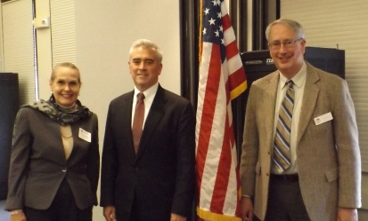 Retired Justice Stratton, Congressman Wenstrup and OLHO Executive Director Mike Renner