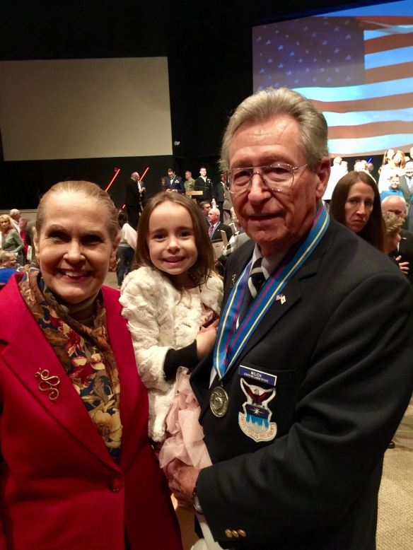 Judge Milich and granddaughter at 2018 Inudction ino OHVHOF